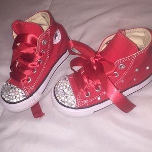 8647702469299d Kids  Bedazzled Converse on Poshmark